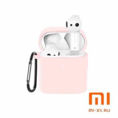 Силиконовый чехол для наушников Xiaomi Air Mi True Wireless Earphones 2 (Pink)