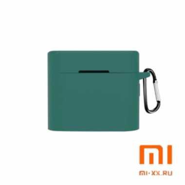 Силиконовый чехол для наушников Xiaomi Air Mi True Wireless Earphones 2 (Green)