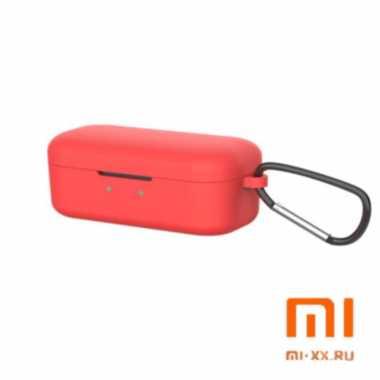 Силиконовый чехол для наушников Xiaomi QCY T5 (Red)