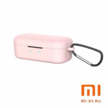 Силиконовый чехол для наушников Xiaomi QCY T5 (Pink)