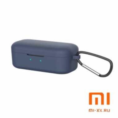 Силиконовый чехол для наушников Xiaomi QCY T5 (Dark Blue)