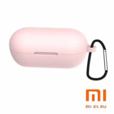 Силиконовый чехол для наушников Xiaomi Haylou GT1 Pro (Pink)
