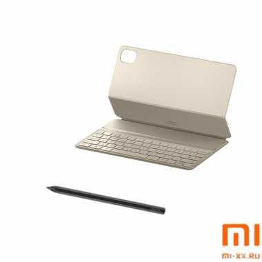 Комплект чехол-книжка c клавиатурой и стилус для Mi Pad 5 (White)
