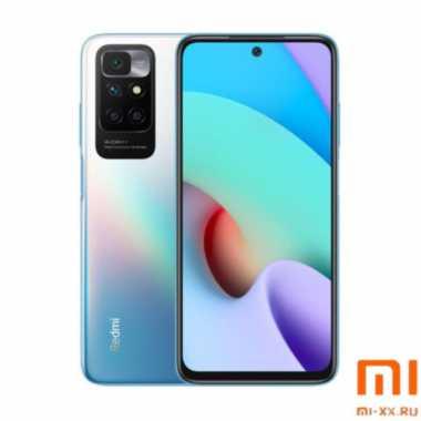 Телефон Xiaomi Redmi 10 (4Gb/128Gb) Sea Blue